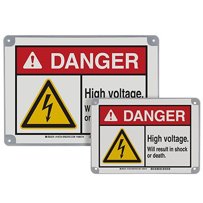 ToughWash® Encapsulated Signs - Danger High Voltage