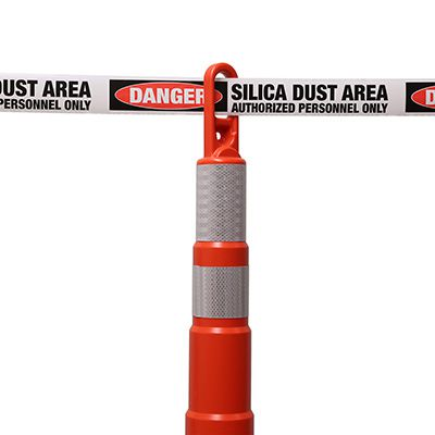 Silica Dust Area - Silica Barricade Tapes
