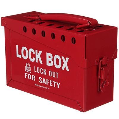 Portable Metal Lock Box - Red (65699) by Brady