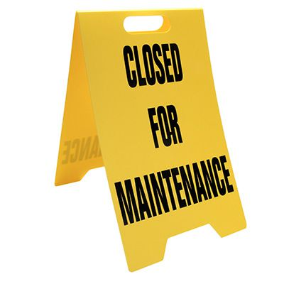 Heavy Duty Floor Stand Signs- Closed For Maintenance