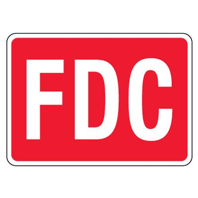 Reflective FDC Signs - White on Red
