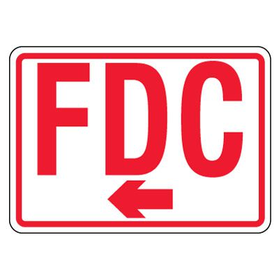 Reflective FDC Signs - Right Arrow, Red on White