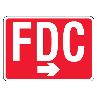 Reflective FDC Signs - Right Arrow, White on Red