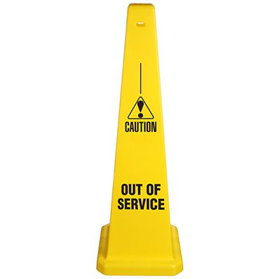 Safety Traffic Cones - Caution Out Of Service w/ Graphic