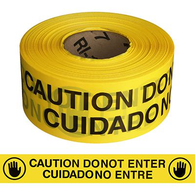 Bilingual Do Not Enter Barricade Tape