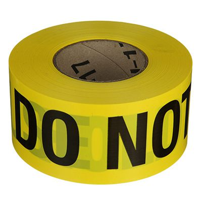 Do Not Use Barricade Tape