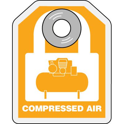 Compressed Air - Hazard ID Padlock Tags