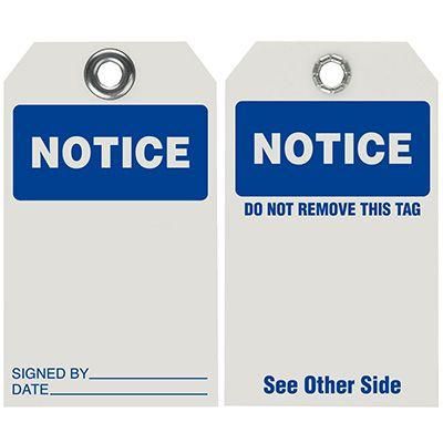 Notice - Dry Erase Tag