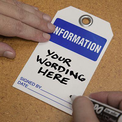 Information - Dry Erase Tag