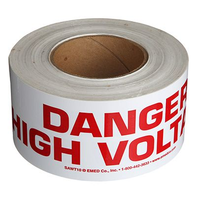 Nadco Danger High Voltage Message Tape 3X200-SAWT36