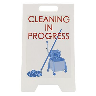 Cleaning In Progress - Floor Stand