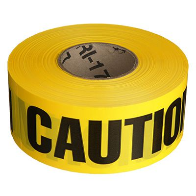 Barricade Tape - Caution - 3 x 1000'