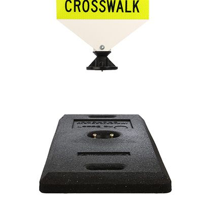 School State Law Stop For Pedestrians Within Crosswalk Signs