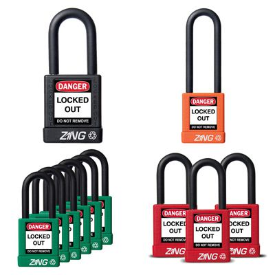 Zing® RecycLock Safety Padlock, Keyed Alike