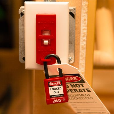 Zing® RecycLockout Lockout Tagout, Wall Switch Lockout