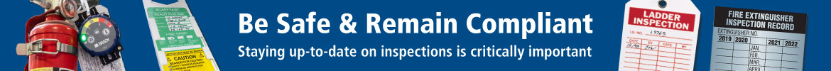 Inspection Tags Only - Be safe and remain compliant!