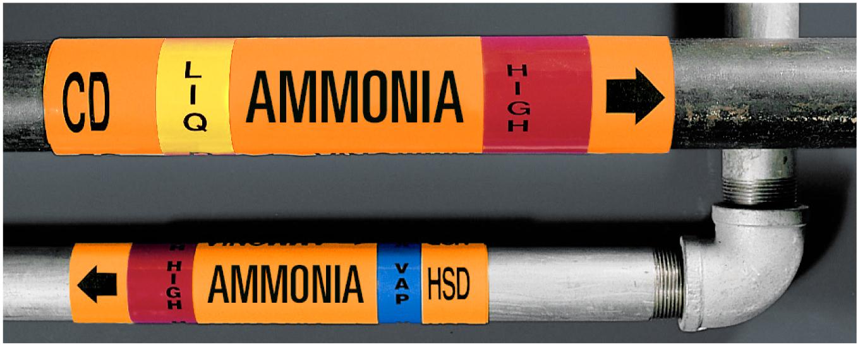 IIAR Ammonia Pipe Marker
