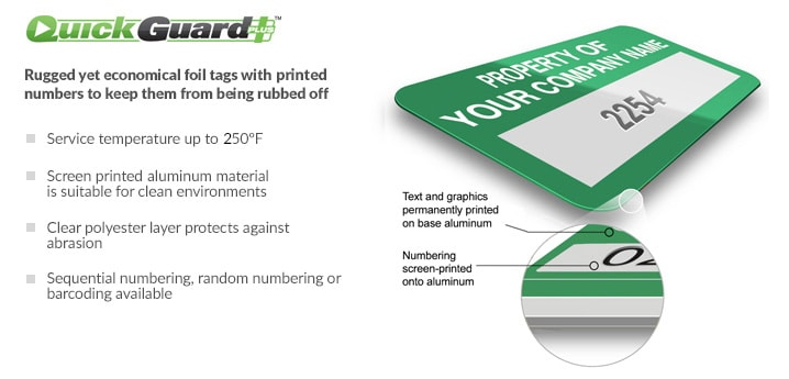 seton quickguard plus asset tag