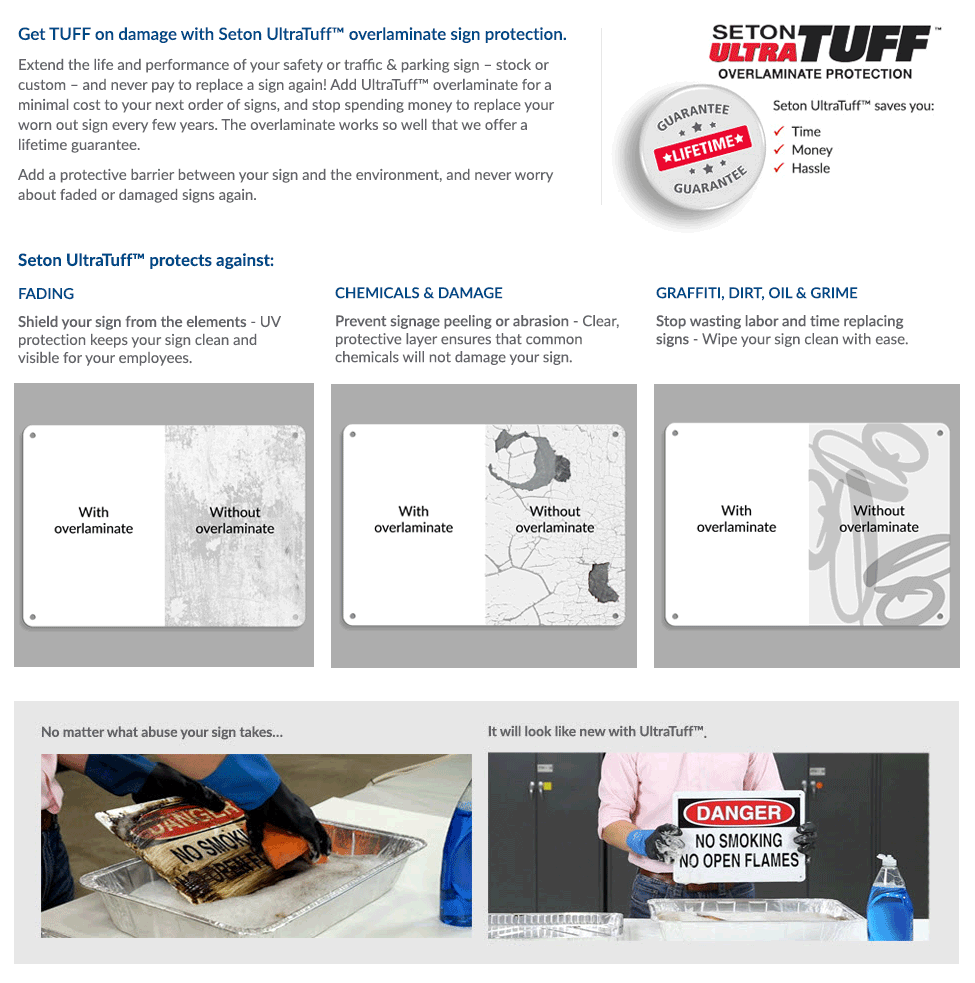 Seton UltraTuff Overlaminate Protection